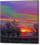 Enameled Sunrise Of Northern California Canvas Print