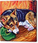 End Of The Day - Pembroke Welsh Corgi Canvas Print
