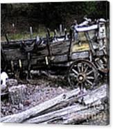 End Of The Trail Oregon Conestoga Wagon  Canvas Print