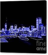 Energetic Atlanta Skyline - Digital Art Canvas Print