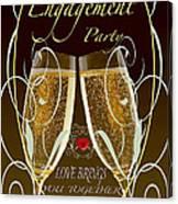 Engagement Party Card Canvas Print