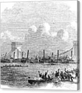 England: Boat Race, 1858 Canvas Print