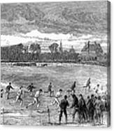 England: Foot Race, 1866 Canvas Print