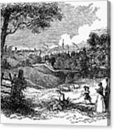 England: Manchester, 1842 Canvas Print