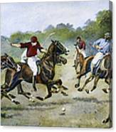 England: Polo, 1902 Canvas Print