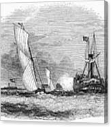 England: Yacht Race, 1843 Canvas Print