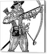 English Archer, 1634 Canvas Print