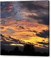 English Autumnal Sky Canvas Print