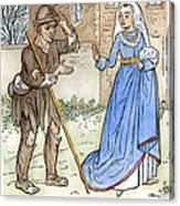 English Beggar, 1330 Canvas Print