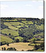 English Countryside Panorama Canvas Print