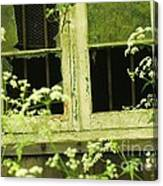 English Countryside Window Canvas Print