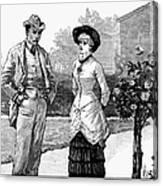 English Couple, 1883 Canvas Print