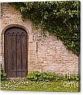 English Door And Ivy Canvas Print