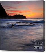 Engulfed By The Sea Canvas Print