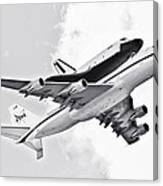 Enterprise Shuttle Piggyback Ride Canvas Print