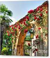 Entrance Arch With Flowers Canvas Print