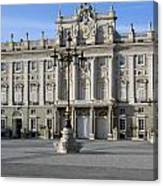 Entrance Of The Royal Palace In Madrid Canvas Print