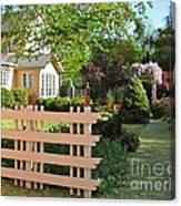 Entrance To A Victorian Garden Canvas Print