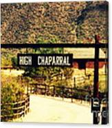 Entrance To The High Chaparral Ranch Canvas Print