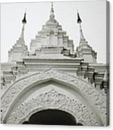 Entrance To Wat Suan Dok Canvas Print