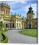 Entrance To Wilanow Palace - Warsaw Canvas Print