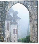Entryway To St Cirq In The Fog Canvas Print
