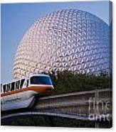 Epcot And Monorail Canvas Print