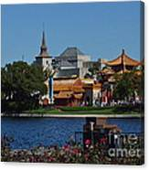 Epcot China And Norway Canvas Print