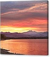 Epic August Sunset 2 Canvas Print