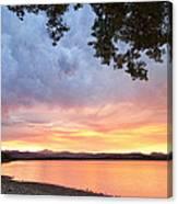 Epic August Sunset Canvas Print