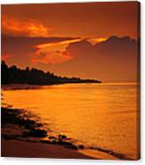 Epic Sunset In The Tropical Maldivian Island Canvas Print
