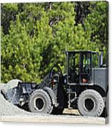 Equipment Operator Gathers A Load Canvas Print