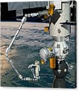 Era Robotic Arm Of The Iss, Artwork Canvas Print