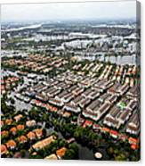 Erial View Of Flood Waters Affecting An Canvas Print