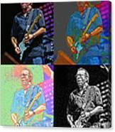 Eric Clapton Pop Canvas Print