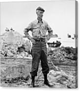 Ernie Pyle (1900-1945). American Journalist. Photograph, C1942 Canvas Print