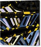 Escalators Canvas Print