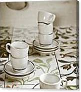 Espresso Cups Canvas Print