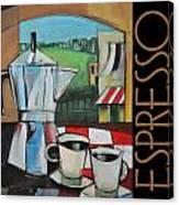 Espresso Poster Canvas Print