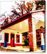 Esso Filling Station Canvas Print