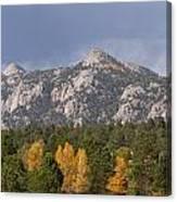 Estes Park Autumn Lake View Vertical Canvas Print