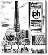 Etched Vegas Canvas Print
