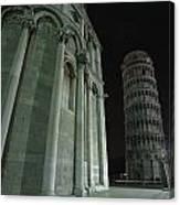 Ethereal Moonlight Scene Of Duomo Santa Canvas Print