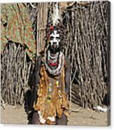 Ethiopia-south Tribesman No.2 Canvas Print