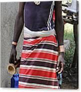 Ethiopia-south Tribesman No.3 Canvas Print