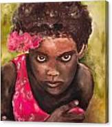 Etiopien Girl Canvas Print