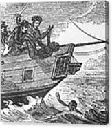 European Sailors Throwing African Canvas Print