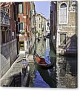 Even A Gondolier Has To Take A Break Canvas Print
