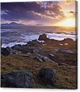 Evening At Breasty Bay Near Malin Head Canvas Print