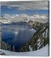 Evening At Crater Lake Panorama Canvas Print